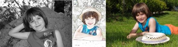 Réalisation de portraits d'enfants en lumière naturelle.