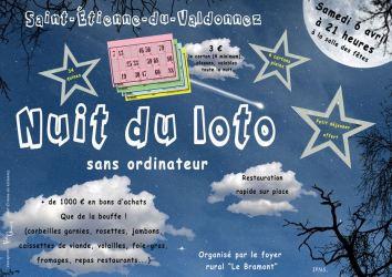 Affiche du loto de Saint-Etienne-du-Valdonnez